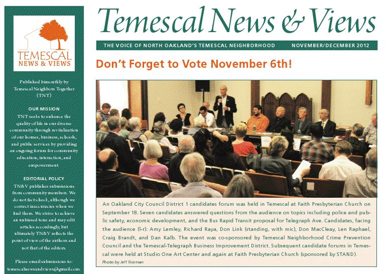 Temescal News and Views